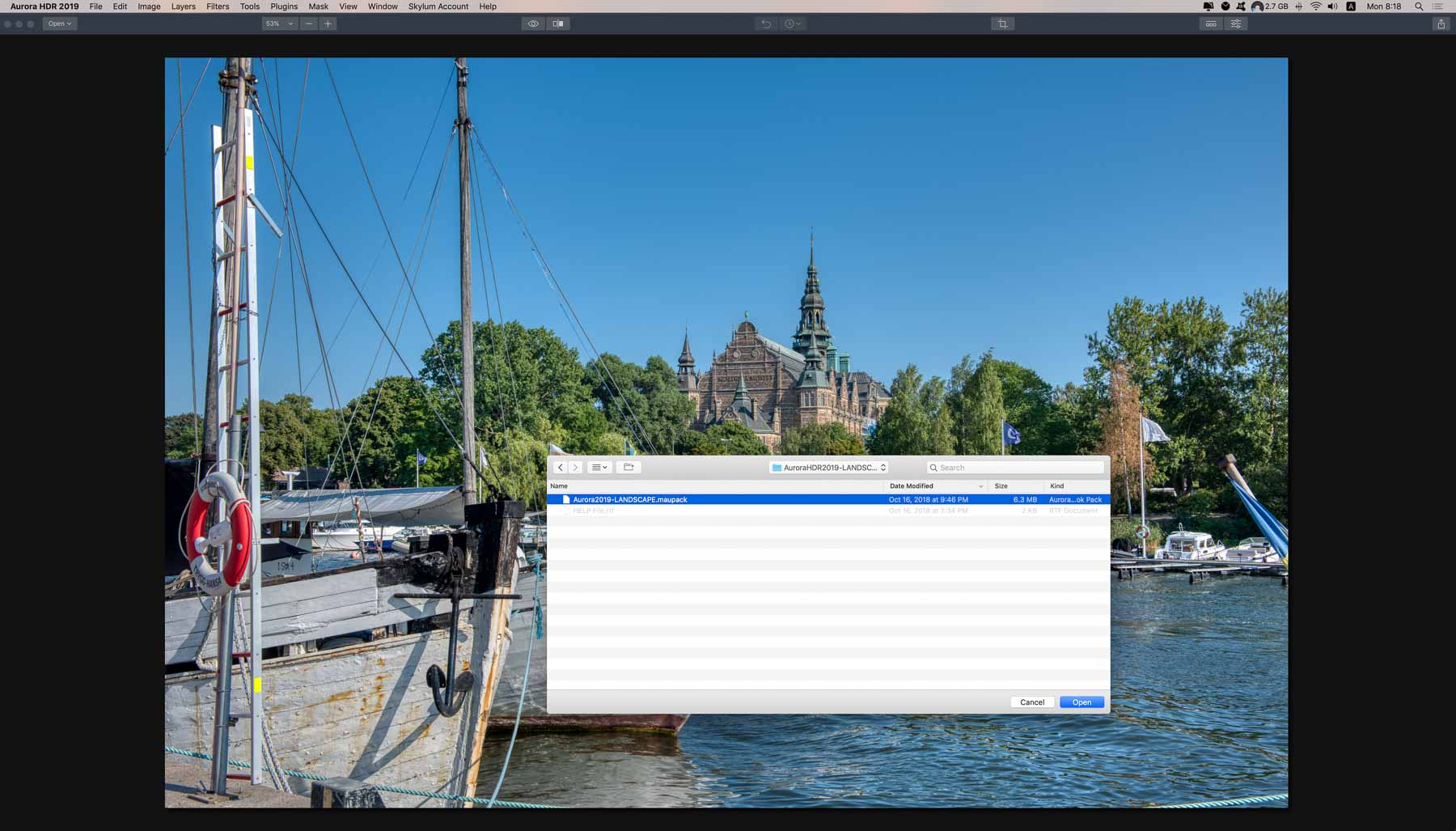 How to install Aurora HDR 2019 looks