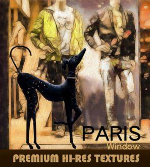 The Paris Window - FREE Photoshop Scenic Backgrounds