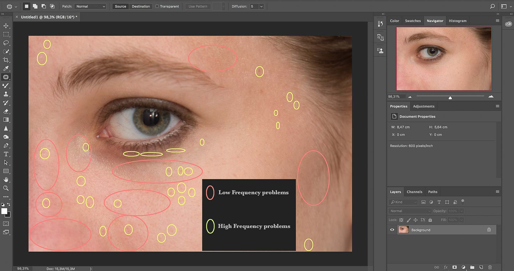 Frequency Separation | Photoshop Skin Retouching • Portrait Retouching Workflow