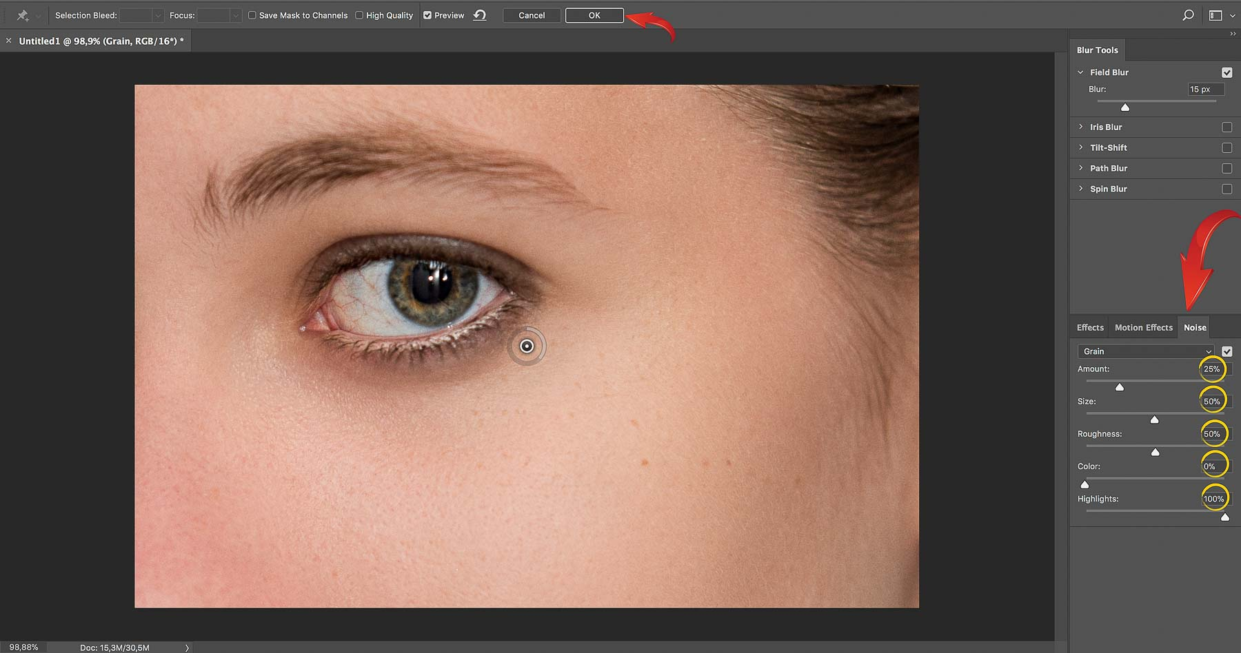 Add Grain | Final Touches | Photoshop Skin Retouching • Portrait Retouching Workflow
