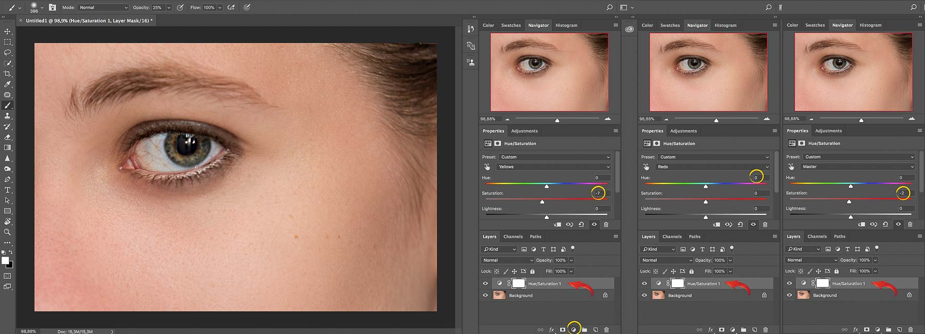Hue Sasturation | Final Touches | Photoshop Skin Retouching • Portrait Retouching Workflow