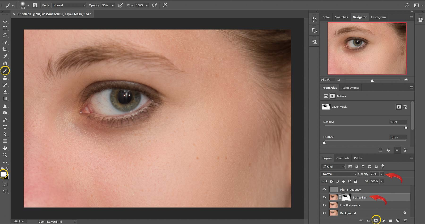 Surface Blur | Frequency Separation | Photoshop Skin Retouching • Portrait Retouching Workflow