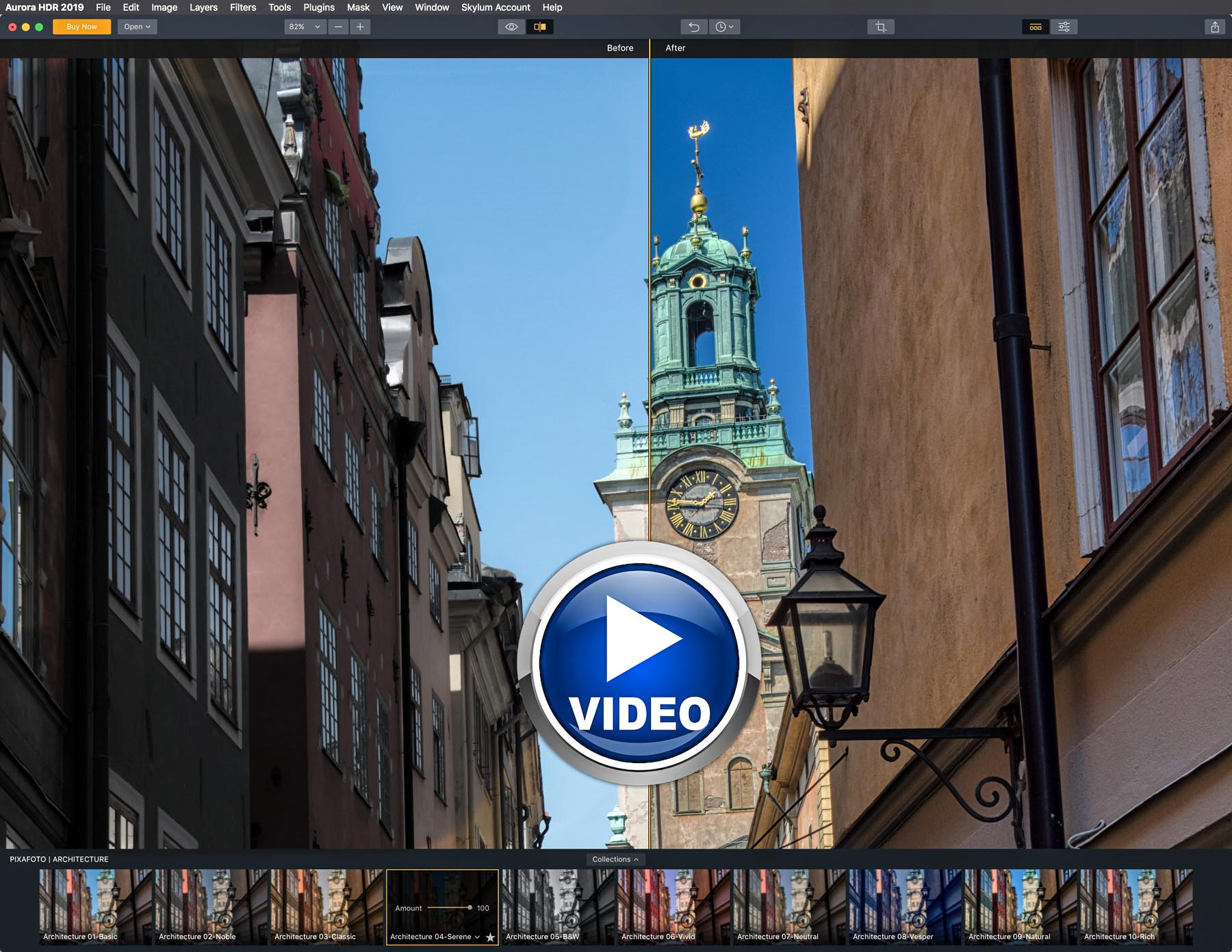 YouTube Video | Architecture Aurora HDR 2019 Presets from PixaFOTO.com