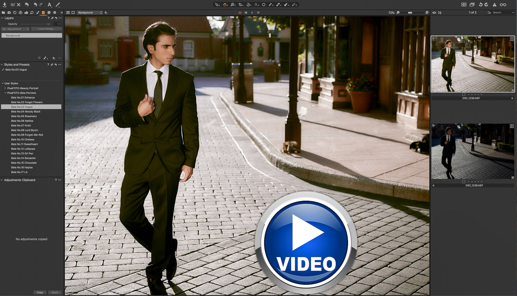 Premium Portrait CaptureOne styles - Bela Portreto collection from PixaFOTO - VIDEO