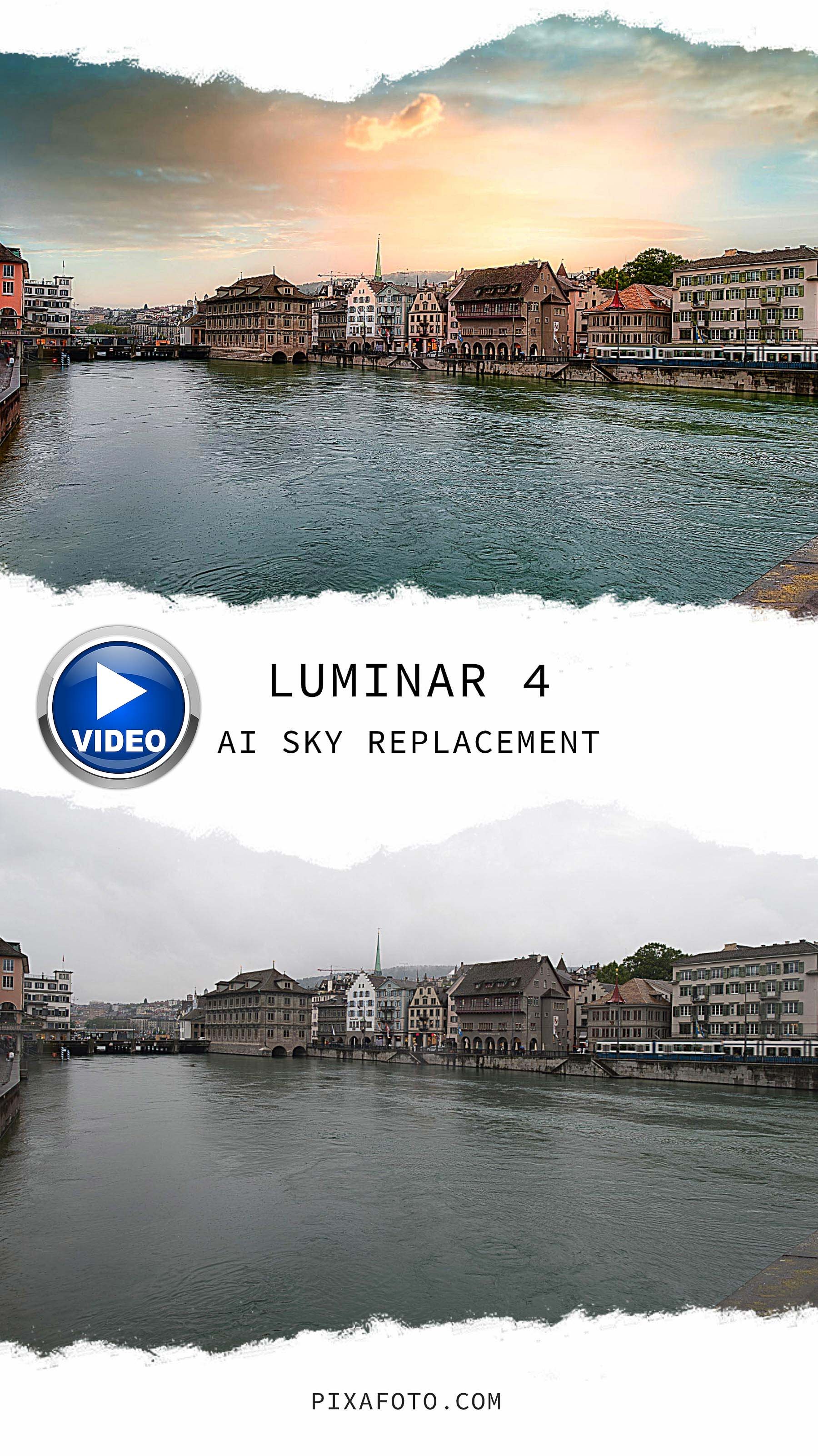 Luminar 4 AI Sky Replacement VIDEO